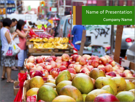Vegetable Market PowerPoint Template