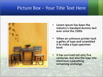 Brick wall in the garden. PowerPoint Templates - Slide 13