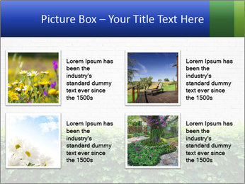 Brick wall in the garden. PowerPoint Templates - Slide 14