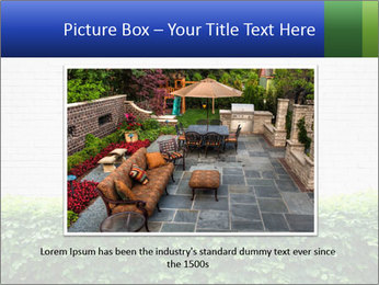 Brick wall in the garden. PowerPoint Templates - Slide 16