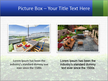 Brick wall in the garden. PowerPoint Templates - Slide 18
