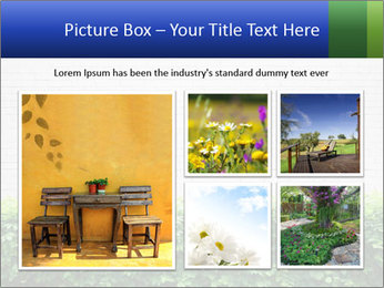 Brick wall in the garden. PowerPoint Templates - Slide 19