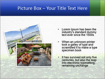 Brick wall in the garden. PowerPoint Templates - Slide 20
