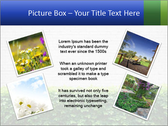 Brick wall in the garden. PowerPoint Templates - Slide 24