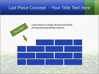 Brick wall in the garden. PowerPoint Templates - Slide 46