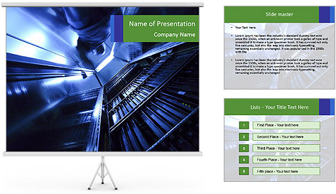 Blue Room Communications PowerPoint Template