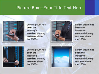 Blue Room Communications PowerPoint Template - Slide 14