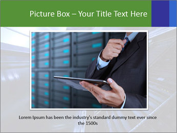 Blue Room Communications PowerPoint Template - Slide 16
