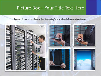Blue Room Communications PowerPoint Template - Slide 19