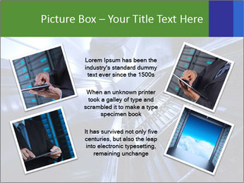 Blue Room Communications PowerPoint Template - Slide 24