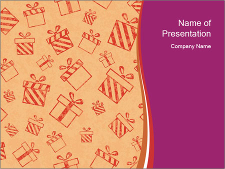 Drawn gifts PowerPoint Templates