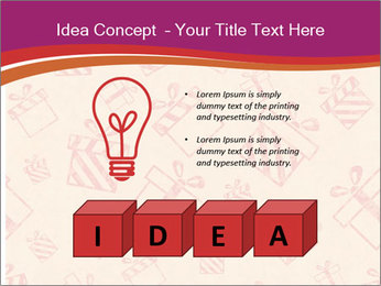Drawn gifts PowerPoint Templates - Slide 80