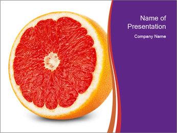 Grapefruit PowerPoint Template - Slide 1