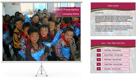 Chinese children PowerPoint Template