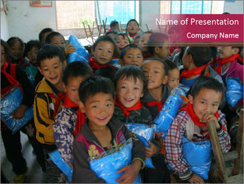 Chinese children PowerPoint Template