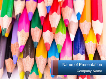Colour pencils PowerPoint Templates - Slide 1