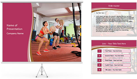 People and basketball PowerPoint Template