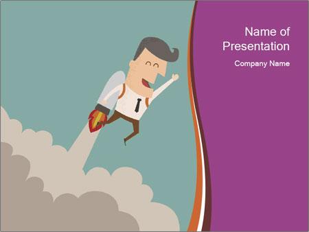 Cartoon hero PowerPoint Template