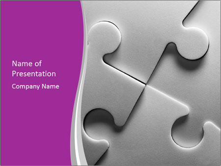 Gray puzzle PowerPoint Templates