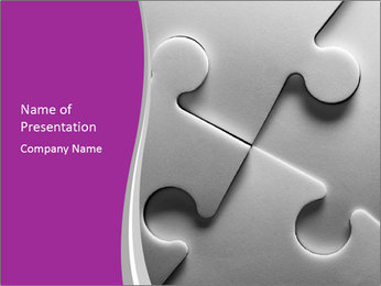 Gray puzzle PowerPoint Template - Slide 1