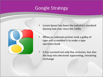 Gray puzzle PowerPoint Templates - Slide 10