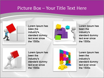 Gray puzzle PowerPoint Template - Slide 14