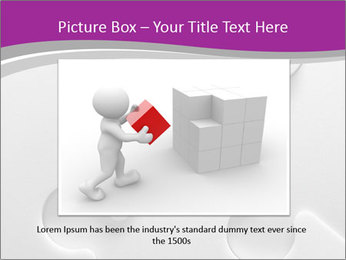 Gray puzzle PowerPoint Template - Slide 15