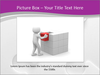 Gray puzzle PowerPoint Templates - Slide 16
