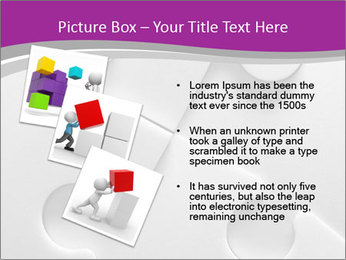 Gray puzzle PowerPoint Template - Slide 17