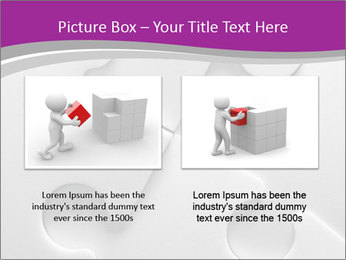 Gray puzzle PowerPoint Template - Slide 18