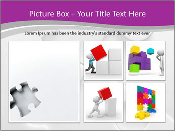 Gray puzzle PowerPoint Template - Slide 19