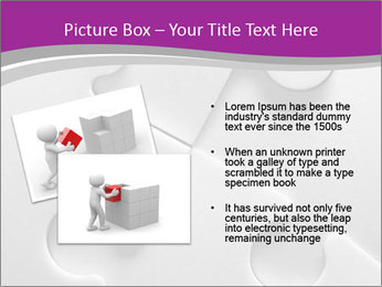 Gray puzzle PowerPoint Template - Slide 20