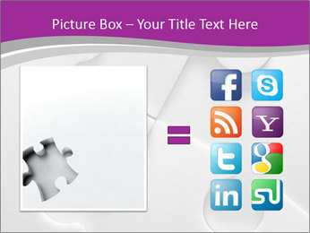 Gray puzzle PowerPoint Template - Slide 21