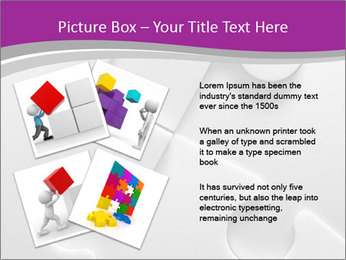 Gray puzzle PowerPoint Template - Slide 23