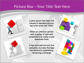 Gray puzzle PowerPoint Template - Slide 24