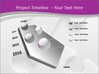 Gray puzzle PowerPoint Template - Slide 26