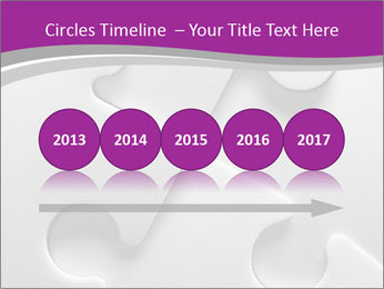 Gray puzzle PowerPoint Template - Slide 29
