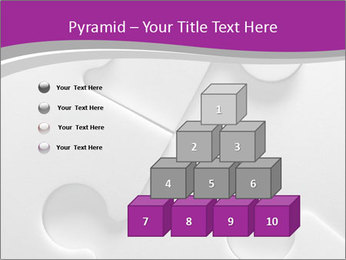 Gray puzzle PowerPoint Template - Slide 31