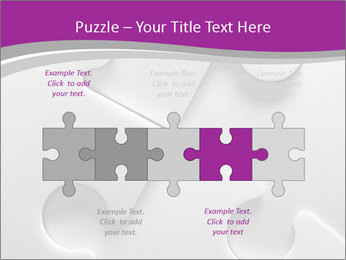 Gray puzzle PowerPoint Template - Slide 41