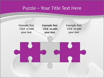 Gray puzzle PowerPoint Template - Slide 42