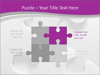 Gray puzzle PowerPoint Template - Slide 43