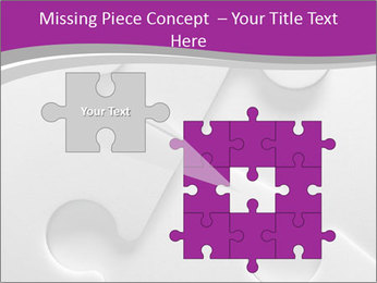 Gray puzzle PowerPoint Template - Slide 45