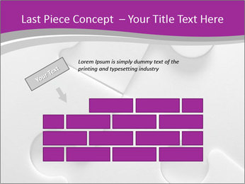 Gray puzzle PowerPoint Template - Slide 46