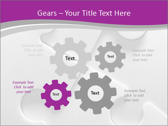 Gray puzzle PowerPoint Template - Slide 47