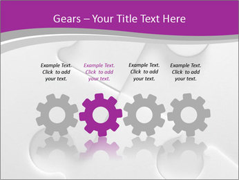 Gray puzzle PowerPoint Template - Slide 48