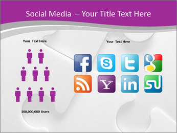 Gray puzzle PowerPoint Templates - Slide 5