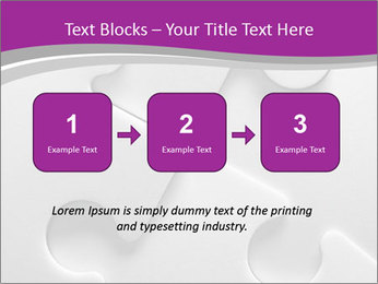 Gray puzzle PowerPoint Template - Slide 71