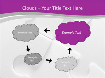 Gray puzzle PowerPoint Templates - Slide 72