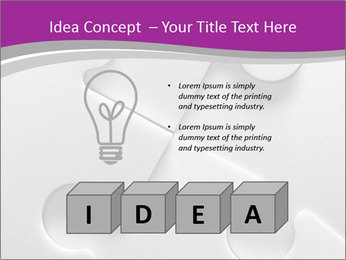 Gray puzzle PowerPoint Template - Slide 80