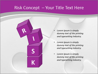 Gray puzzle PowerPoint Templates - Slide 81